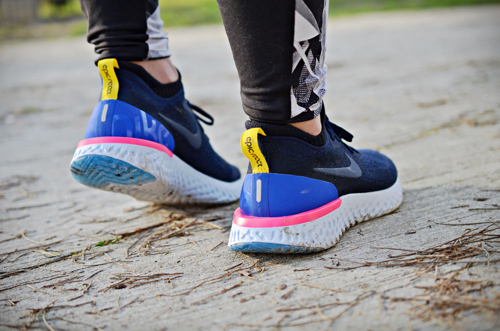 Test Nike Epic React Flyknit - Agathe Runs Bordeaux