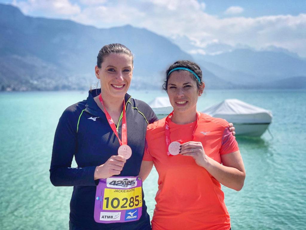 Médaille finisher marathon du Lac d'Annecy